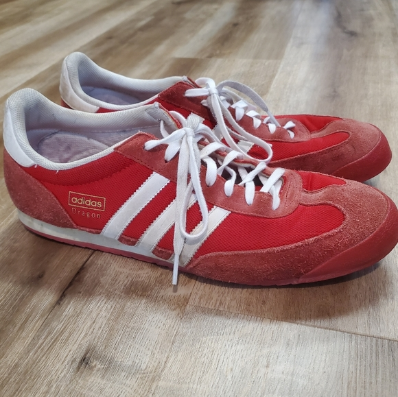 Retro Adidas Dragon Trainers Sneakers Size 12